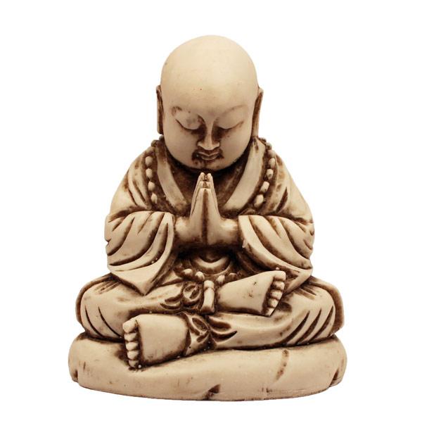 Small-Praying-Monk-White